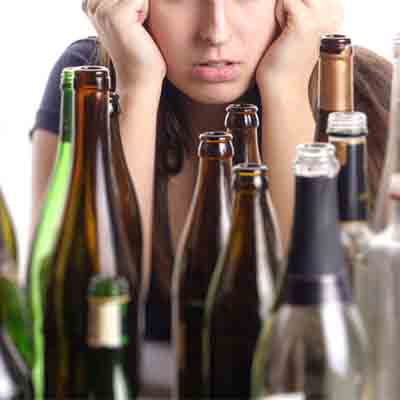 Image showing a person desperate to get alcohol addiction treatment at a rehab clinic