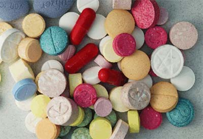An image showing pills - often misused by drug addicts