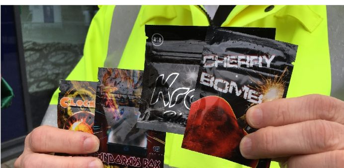 the police fighting legal highs shops
